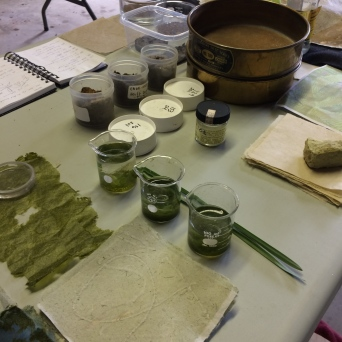 Paper making with local materials