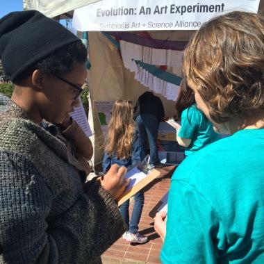 Evolution: An Art Experiment, at Atlanta Science Festival with Nicole Gerardo