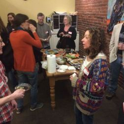 Asheville Science Tavern tardigrade party with Paul Bartels